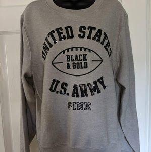 Pink V.s  U.S Army sweatshirt